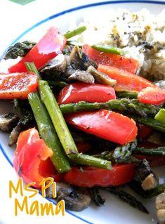 MSPI Mama: Roasted Tri-Color Vegetables