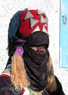 Africa | A tuareg man dressed for the Sebeiba Festival held in southern Algeria | ©Village Graphic