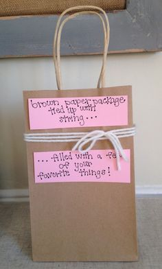 Brown Paper Package Tied Up With String for Valentine's Day | One of 30 Last-Minute DIY Gifts for Your Valentine over at the thinking closet!