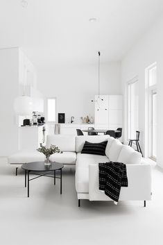 270 Best Black and White Interior Design images Living Room Interior, Home Living Room, Apartment Living, Living Room Decor, Interior Design Boards, White Interior Design, Black And White Interior, Living Room Inspiration, Home Decor Inspiration