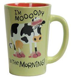 "Lazy One ""Moody in the Morning"" Ceramic Mug $8 - SHOP http://www.thepajamacompany.com/store/lazy-one-moody-in-the-morning-ceramic-mug.html?category_id=6585"