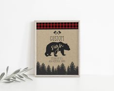 8x10 Lumberjack Custom Sign Printable Template, Design your own Sign, Bear Birthday Sign, INSTANT DOWNLOAD, EDITABLE Customizable Sign, P13 Printable Invitations, Printables, Bear Birthday, Share Online, Party Signs, Sign Design, Design Your Own, Paper Texture, How To Apply