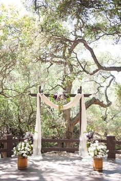 Handmade Rustic Purple And Gray Wedding
