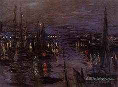 Claude Monet The Port Of Le Havre, Night Effect oil painting reproductions for sale