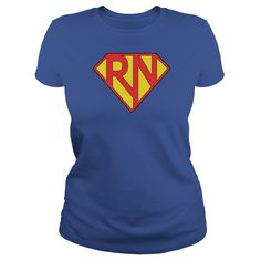 Super RN - A great shirt for registered nurses to show their super powers. (Hospital Tshirts)