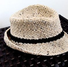Vintage Driftwood: iKNITS: Crochet a Fedora Hat