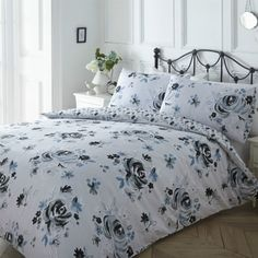 Ideal Bedding | Duvet Covers| Bedsheets | Pillowcase Pieridae Classic Floral Flower Duvet Quilt Bedding Cover and Pillowcase Bedding Set