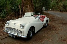 Triumph TR3A, first car I ever drove when I was about 11