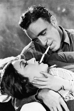 Gloria Swanson and Raoul Walsh in the silent film Sadie Thompson, 1928.