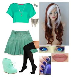 """""""Elysia Peters (Winx Club)"""" by mjzahner ❤ liked on Polyvore featuring Boohoo, Ryder, Finn, Hue, Armenta and Lane Bryant"""
