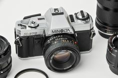 Minolta X-370 Vintage Camera System 35mm SLR Plus 3 Lenses Near New Condition with Instruction Booklets by RebornToAdorn on Etsy