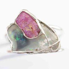 Opal Rubin Ring