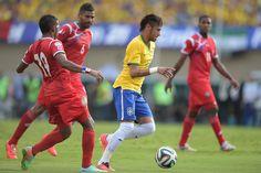 (Foto: Getty Images) El segundo rival de México se prepara contra Panamá. #Neymar #brasil2014 #aztecarioca #Panamá