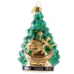 Rockefeller Center Tree Glass Ornament