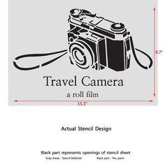 Travel Camera stencils for Crafting Wall art por JboutiqueStencils
