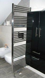 Badheizkörper Raumteiler Edelstahl SET matt oder poliert