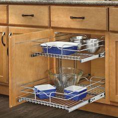 Rev A Shelf 22 Inch Deep 2 Tiered Wire Baskets. Kitchen Cabinet  HardwareKitchen ...