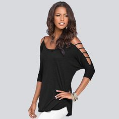 f4aed8117bc0f 2016 Fashion Women Casual Blouses Shirts Tops Spring Summer Half Sleeve  O-Neck Casual Blusas Femininas 3 Color S-XL