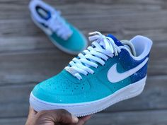 new concept aa7ad 12f35 Custom Low Top Aqua Af1s Air Force Shoes, Nike Air Force Ones, Air Force