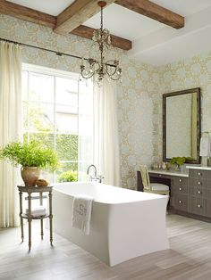 Design Ideas for Neutral Color Master Bathrooms | Traditional Home