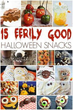 I love the wide variety of fun food that is served up over Halloween.   Candy Corn Martinis  and  Hot Dog Ghouls  are two fun Halloween f...
