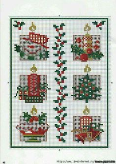 Navidad punto de cruz