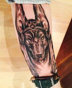 My new tattoo. Anubis - egyptian god