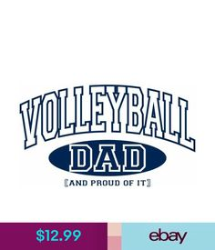 9f001d23 Volleyball Dad And Proud Of It Sports T-Shirt #ebay #Fashion Fair Games