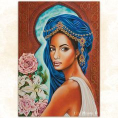 LARGE 'Queen of Sheba' print by rose raven