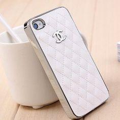 Brand New White Chanel Fashion Case Silver LOGO * Apple: Amazon.co.uk: Electronics