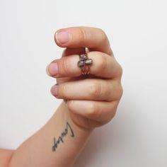 Creativity Trio Stacking Ring Set | Amazonite, Sodalite, and Green Aventurine Copper Material, Three Rings, Dainty Ring, Green Aventurine, Boho Rings, Stacking Rings, Crystals And Gemstones, Gemstone Jewelry, Creativity