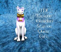 The Dark Fae Kisune Guardian Statue Quest Gift Fairy Dust, The Darkest, Statue, Gifts, Presents, Gifs, Sculptures, Sculpture