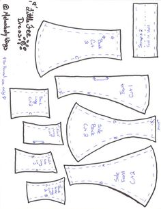Littlefee Princess seam pattern by MelancholyWings, via Flickr - several patterns there, with tutorial under the pics :-)