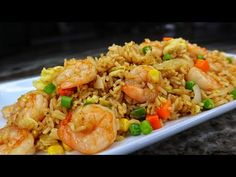 Easy Chinese Fried Rice Recipe, Shrimp Rice Recipe Easy, Shrimp And Rice Recipes, Shrimp Fried Rice, Easy Rice Recipes, Asian Recipes, Oriental Recipes, Fish Recipes