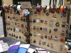 Love the display.....but check out the funky earrings too.  Very different.