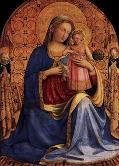 Madonna and Child - Fra Angelico.  c.1433.  Tempera on panel.  70 x 51 cm.  Gemaldegalerie, Staatliche Museen zu Berlin, Berlin, Germany.