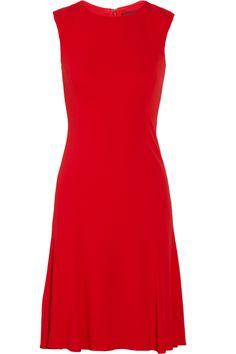 "Ralph Lauren Black Label. Scarlet viscose crepe jersey ""Thandie"" dress."