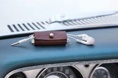 AMORICA leatherworks_ earphone manager #leatherworks #leathercrafts #AMORICA #earphonemanager #cable manager #leather