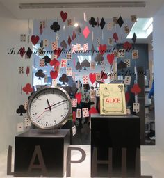 LA Phil Store Alice in Wonderland Window Display