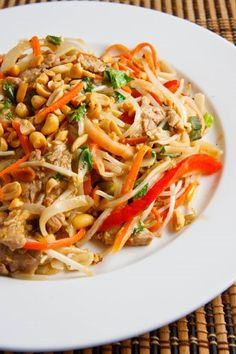 Thai Peanut Pork Noodle Saute - I would use chicken