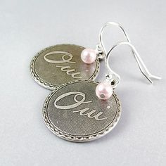 Oui Oui Earrings Sterling Silver Earwires - $18