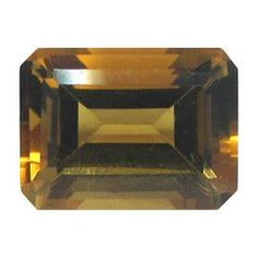 12.44 ct Emerald Cut Citrine Golden Yellow -Gold Crane & Co.