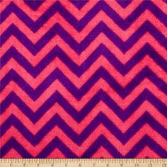 Plush Coral Fleece Chevron Fuschia/Amethyst from @fabricdotcom  From Camelot Fabrics, this ultra soft double-sided plush coral fleece fabric is perfect for making cozy blankets, throws, cuddly toys, robes, loungewear and more! This plush fleece is not appropriate for no-sew tie throw blankets.