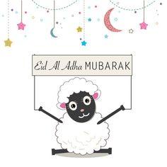 Eid Crafts, Ramadan Crafts, Eid Mubarak Card, Adha Mubarak, Adha Card, Sheep Cards, Sheep Cartoon, Sheep Vector, Eid Stickers