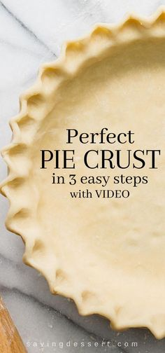 Perfect Pie Crust Recipe in steps - With just a little patience and practice you can make flaky delicious pastry for all your favorite pie recipes pie piecrust piepastry dessertpies savingroomfordessert savorypies pastry crust perfectpies crustrecipe Homemade Pie Crusts, Pie Crust Recipes, Pastry Recipes, Baking Recipes, Best Pie Crust Recipe, Single Pie Crust Recipe Crisco, Recipe For Pastry, Pie Crust Recipe With Margarine, Pie Crust With Vodka