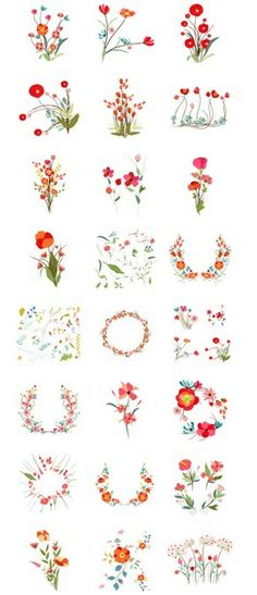 http://www.istockphoto.com/vector/set-of-florals-and-ribbon-41233918