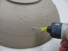 Image result for how to get texture on cement garden pots