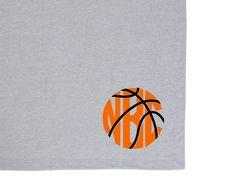 Basketball Monogram Stadium Blanket
