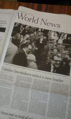Ressò premsa internacional. Investidura 130è president de la Generalitat de Catalunya.