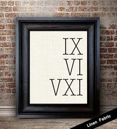 4th Anniversary Gift for Men Roman Numeral by lemonmilkdesigns